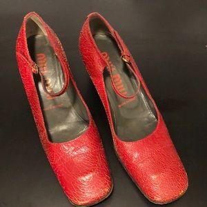 bd861e76498 Women Miu Miu Chunky Heel on Poshmark